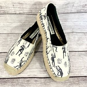 Karl Lagerfeld Canvas Character Espadrilles